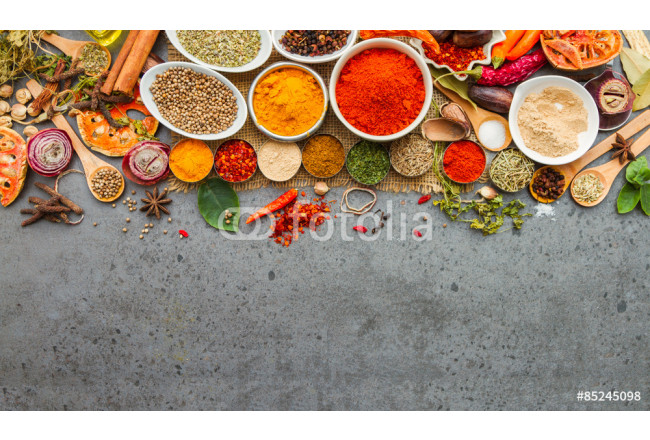 Quadro contemporaneo Spices and herbs.Food and cuisine ingredients. 64239