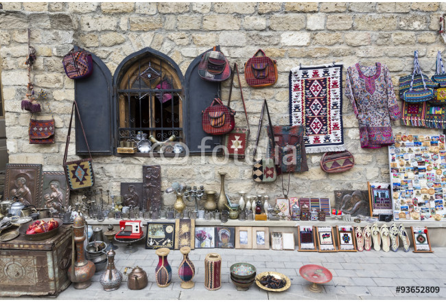 Cuadro decorativo Icheri Sheher (Old Town) of Baku, Azerbaijan. Typical tourist sh 64239