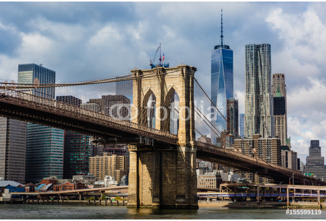 Quadro brooklyn bridge and manhattan skyline scopri moderne