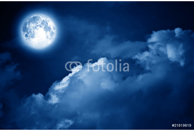 magic moon over the clouds 64239
