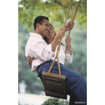 Young Asian couple on swing 64239