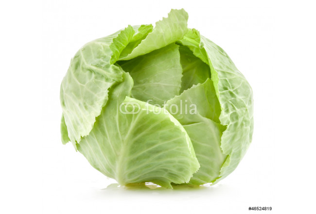 Green cabbage isolated on white 64239