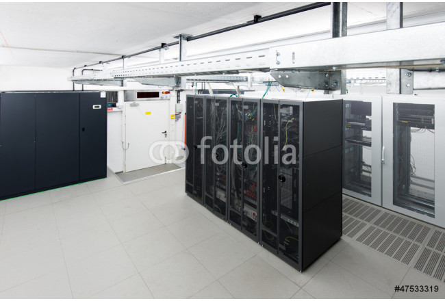 small air conditioned server room with climate control unit 64239