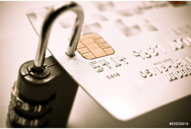 credit card with security lock 64239