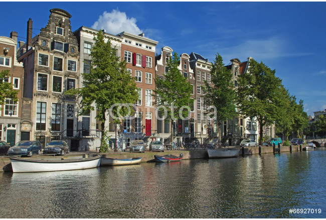 Houses along the canals in Amsterdam 64239