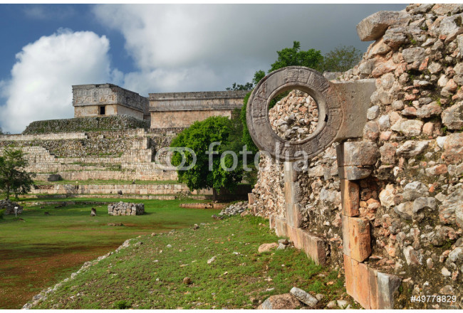 Quadro contemporaneo Ring Mayan ball game in the ancient city of Uxmal 64239