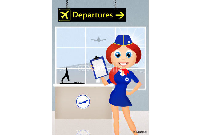 Hostess in airport 64239