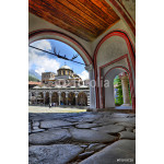 Tourists visiting Rila monastery in Bulgaria 64239