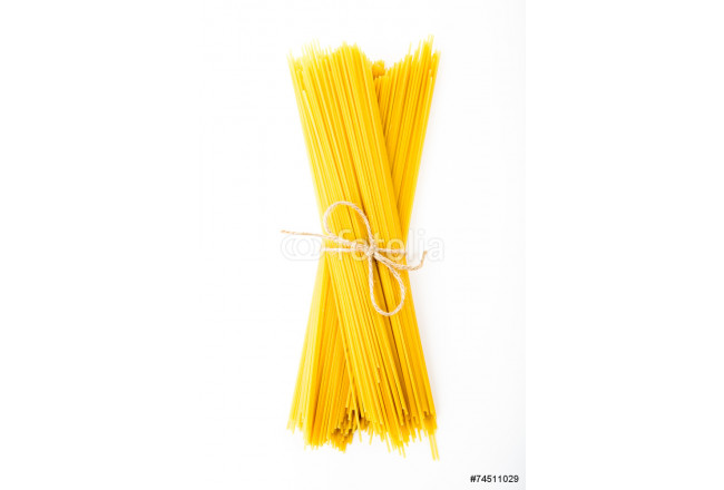 Bunch of spaghetti on white background 64239