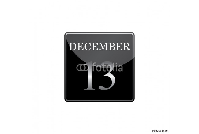 13 december calendar silver and glossy 64239