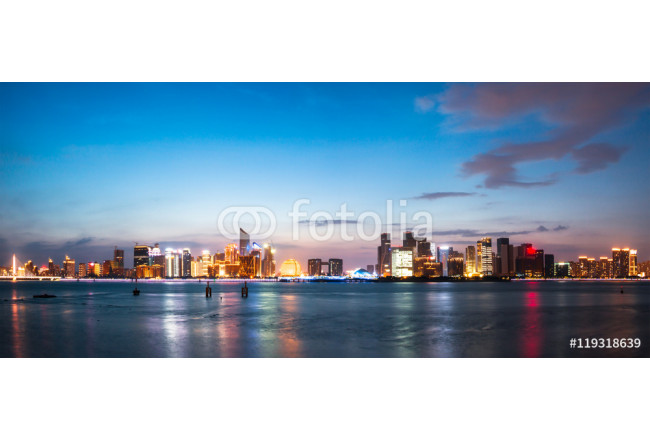 cityscape and skyline of hangzhou from water 64239