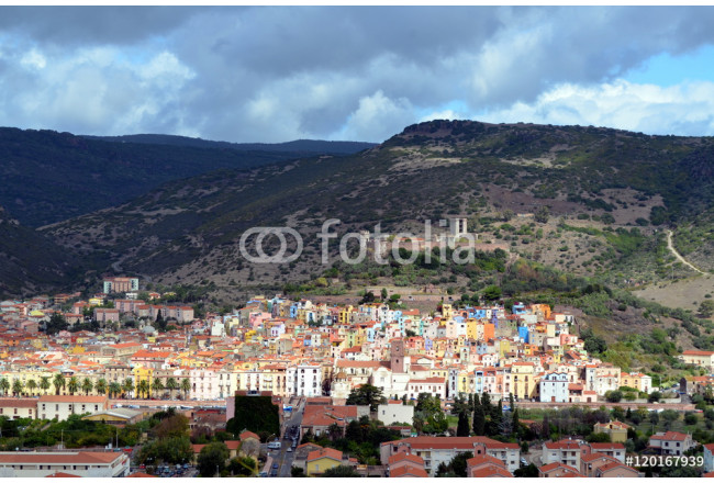 Bosa Colorfull houses in Sardinia Italy Europe 64239