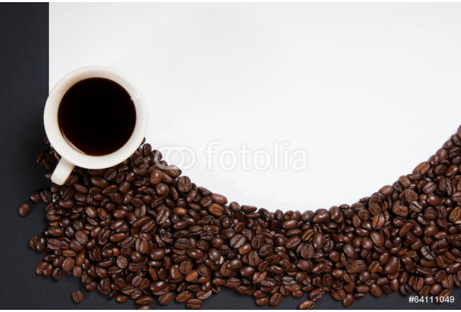 coffee beans on white background 64239