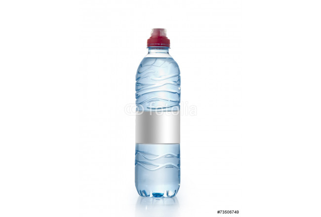 Water bottle with blank label Isolated , Water Bottle Mockup 64239