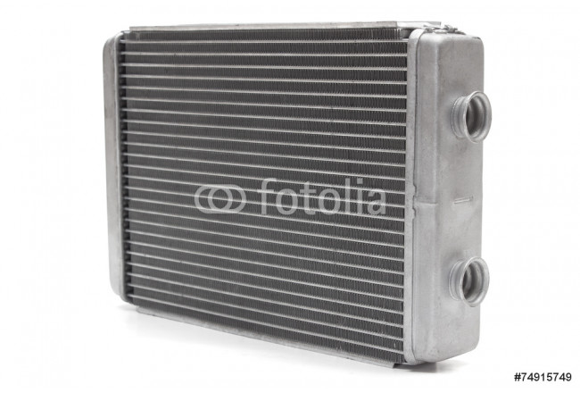 Painting car radiator heater isolated on white background. car parts 64239