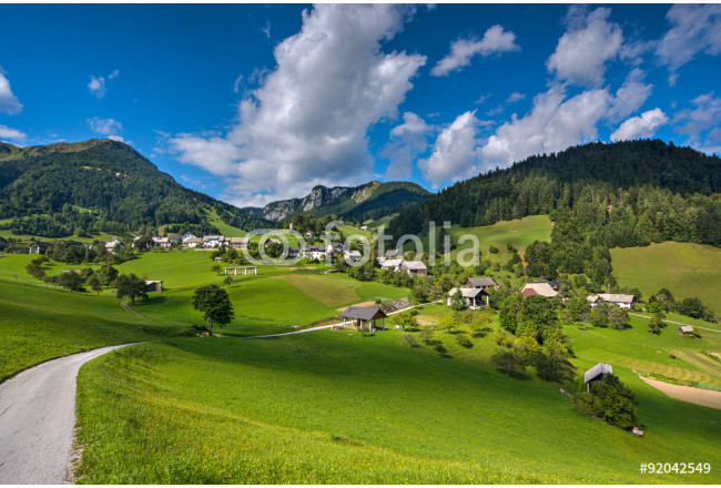 Mountain Village on a Sunny Summer day 64239
