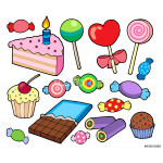 Candy and cakes collection 64239