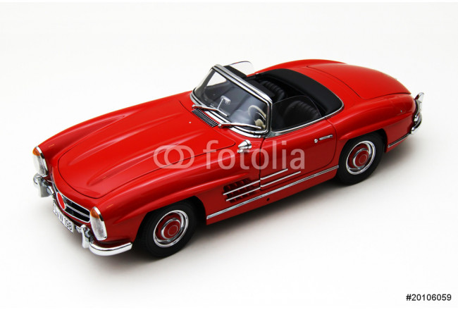 Model of a red classic car 64239