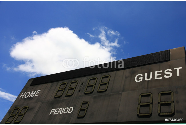 Scoreboard in a Football Pitch 64239