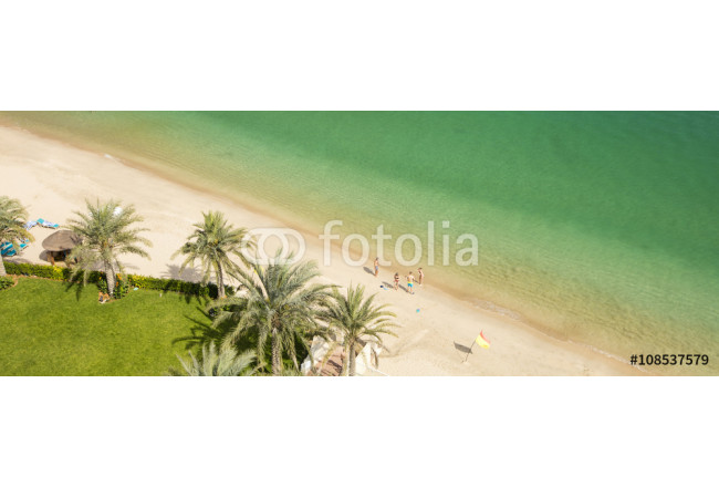 panorama of sand beach and indian ocean in united arab emirate 64239