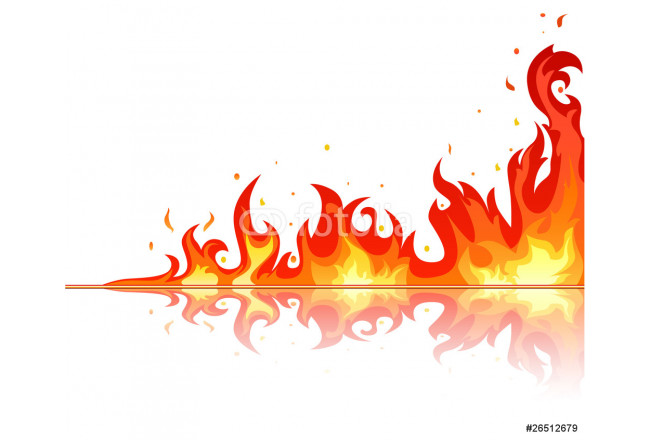 Fire flame on white background 64239