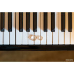 wedding rings on piano 64239