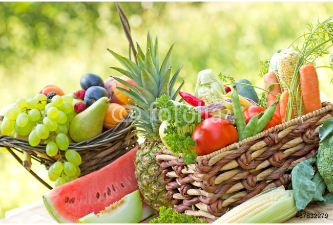 Various fresh, organic fruit and vegetable 64239