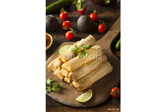 Homemade Corn and Chicken Tamales 64239