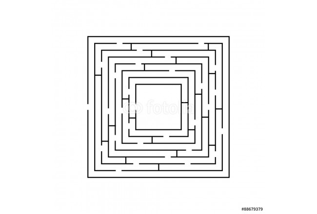 circular maze that is in the form of a square black on white 64239