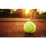 Tennis ball/Close up of tennis ball on clay court. 64239