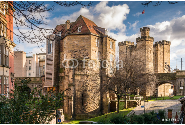 Black Gate gatehouse and Castle Keep in the centre of Newcastle 64239