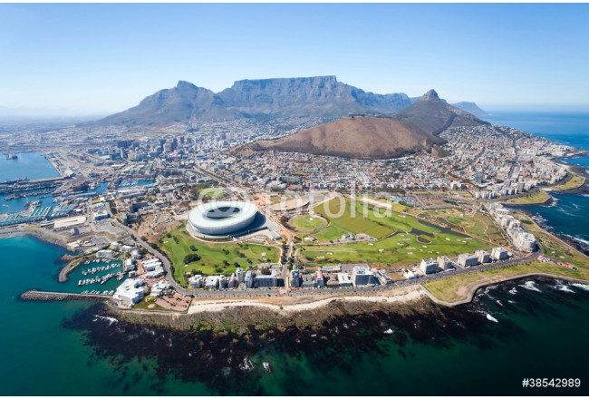 overall aerial view of Cape Town, South Africa 64239