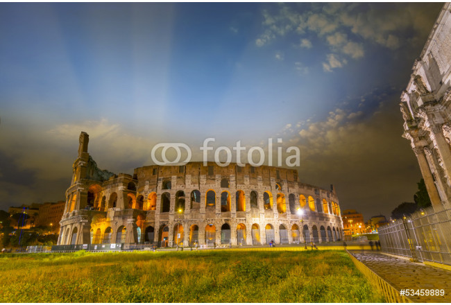 The Colosseum by night with beautiful sky 64239