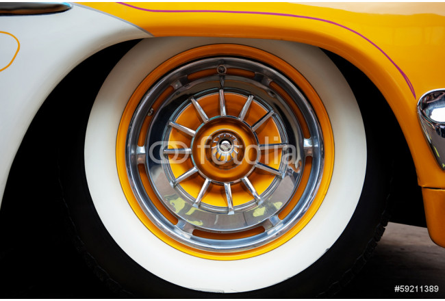 Painting Vintage Car Front Detail 64239