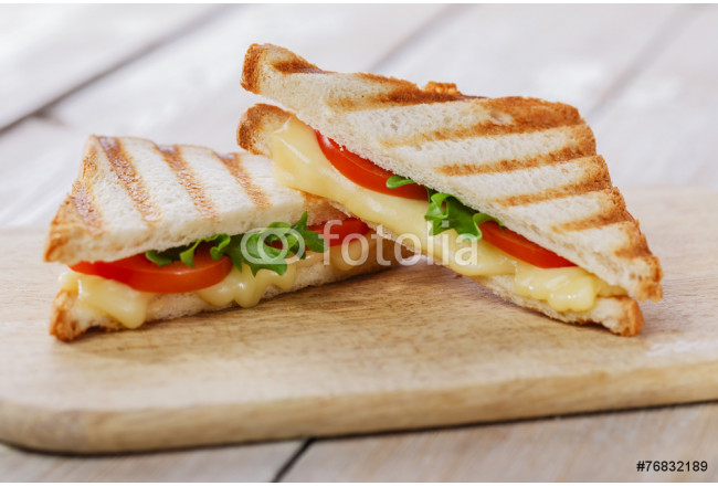 Quadro contemporaneo grilled sandwich toast with tomato and cheese 64239