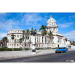 Capitolio building and vintage old american car 64239