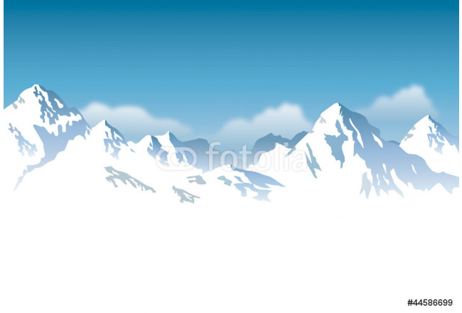 snowcapped mountains - background 64239
