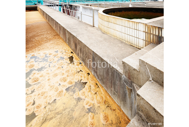 Painting Modern urban wastewater treatment plant 64239