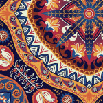 Wallpaper Oriental mosaic 89249 additionalThumb 2