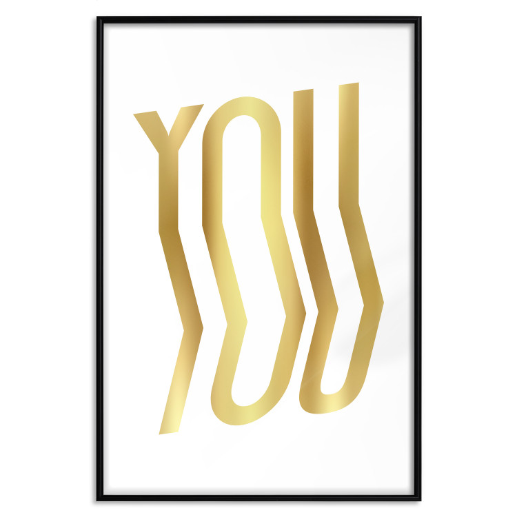 You [Deco Poster - Gold]