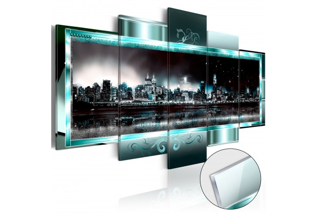 Acrylglasbild Turquoise New York [Glass] 92559