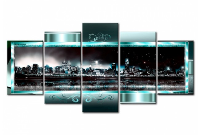 Acrylglasbild Turquoise New York [Glass] 92559 additionalImage 1