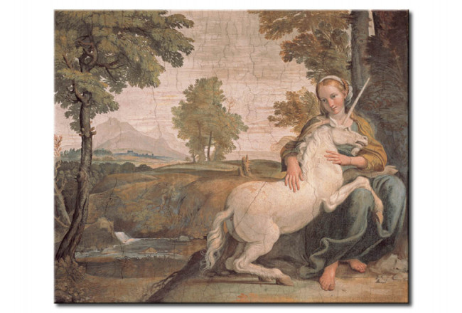 Riproduzione quadro The Maiden and the Unicorn 109269