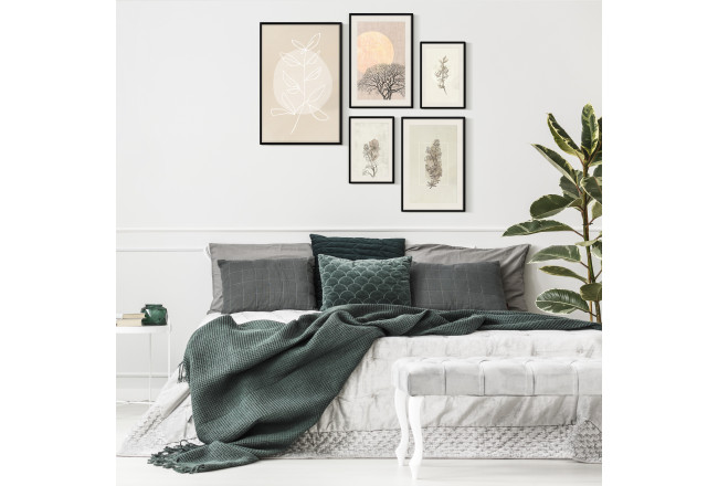 Wall art set Beige plants 127169