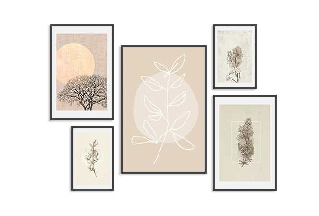 Wall art set Beige plants 127169 additionalImage 1