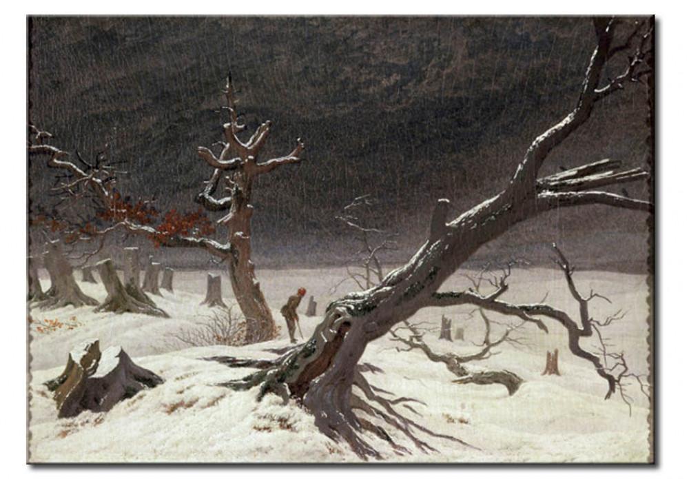 Reproduction Painting Winter Landscape Caspar David Friedrich Reproductions