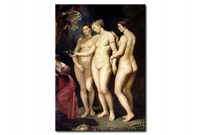 Reproduction Painting The Medici Cycle: Education of Marie de Medici, detail of the Three Graces 51779