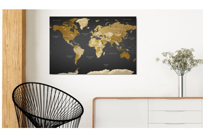 Cork Pinboard Modern Aesthetics [Cork Map] 94579 additionalImage 2