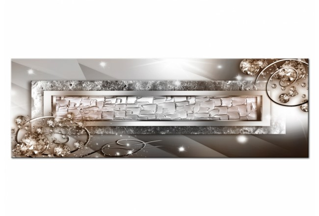 Print On Glass Glass and Crystals (1-part) Narrow Beige [Glass] 107389 additionalImage 2