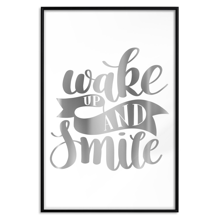 Wake up and Smile [Deco Poster - Silver]
